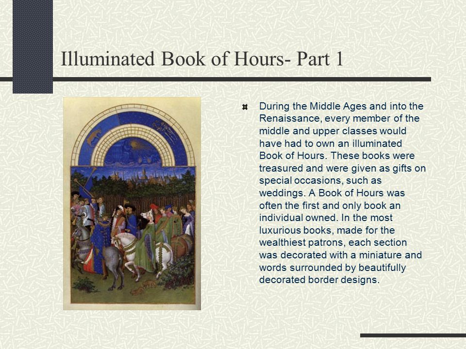 Illuminated Book of Hours- Part 1
