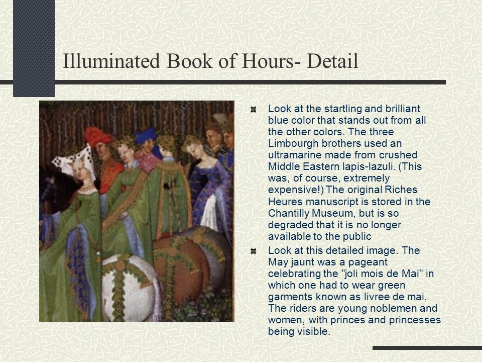 Illuminated Book of Hours- Detail