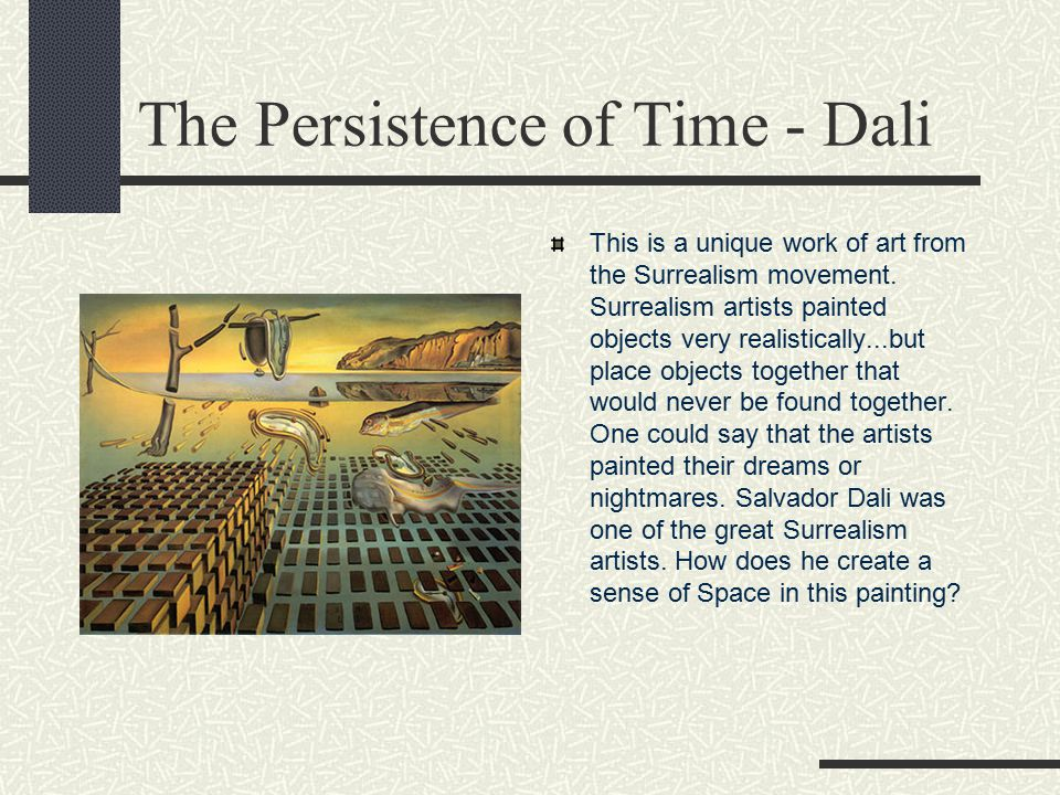 The Persistence of Time - Dali