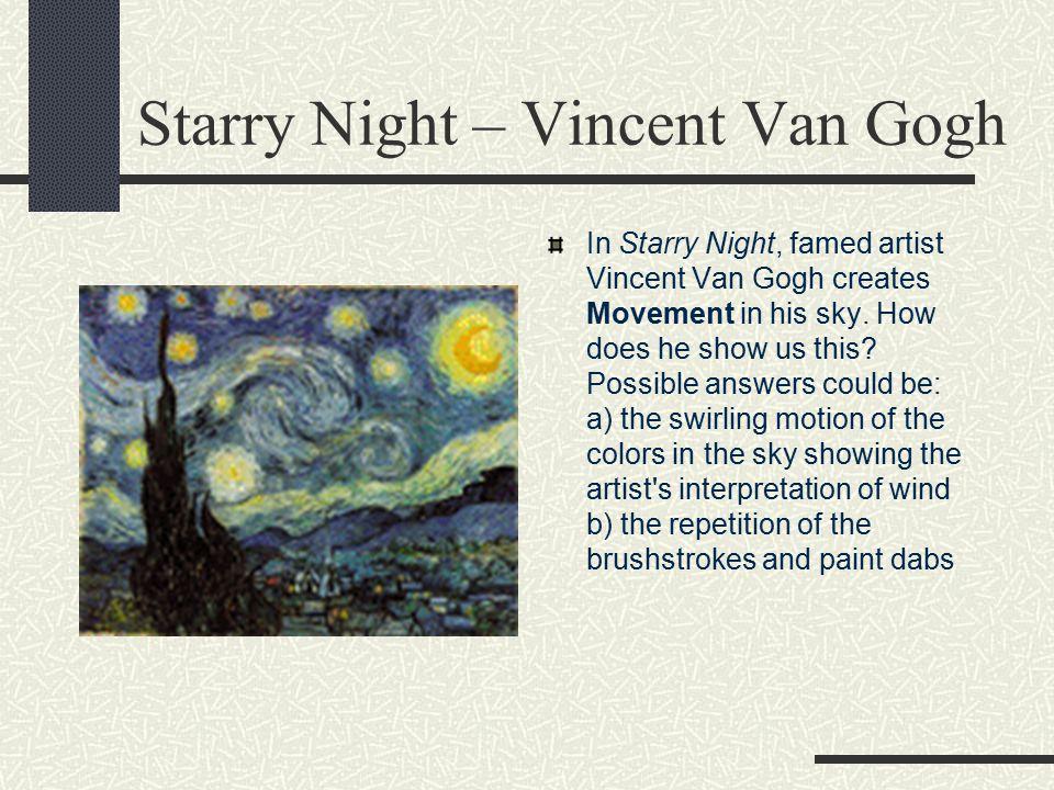 Starry Night – Vincent Van Gogh