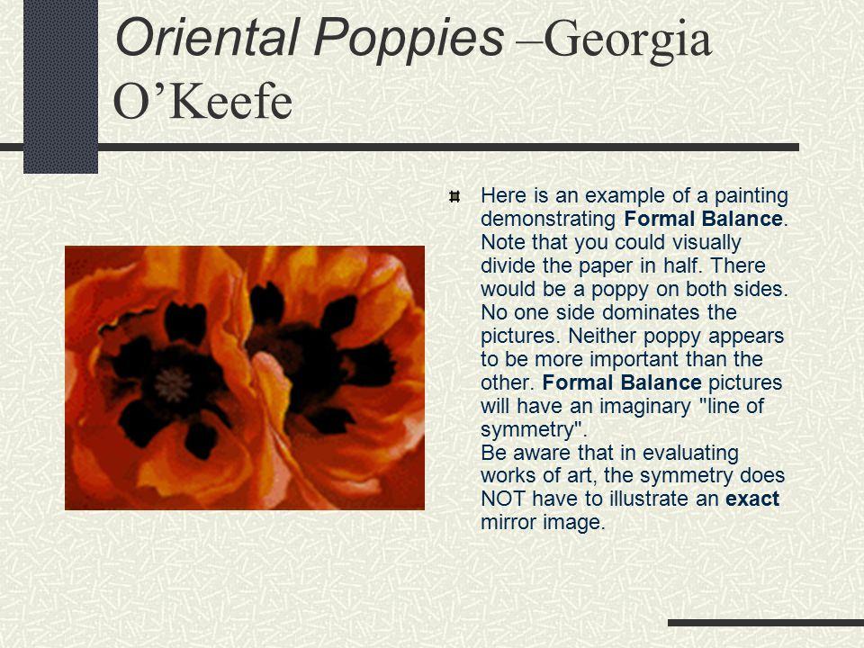 Oriental Poppies –Georgia O'Keefe