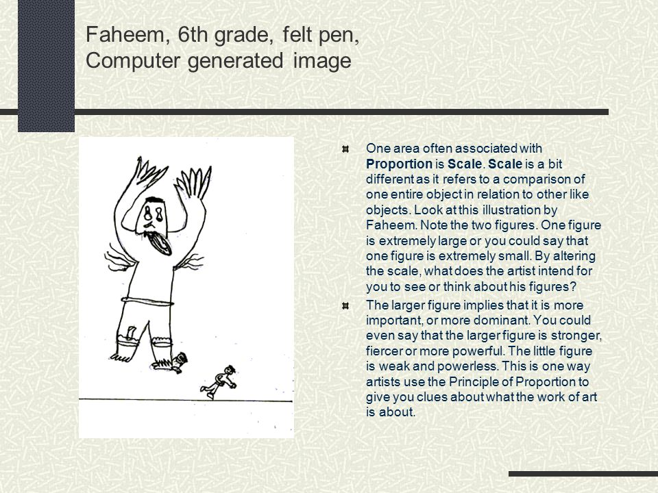 Faheem, 6th grade, felt pen, Computer generated image