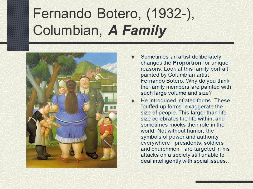Fernando Botero, (1932-), Columbian, A Family