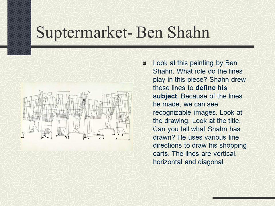 Suptermarket- Ben Shahn