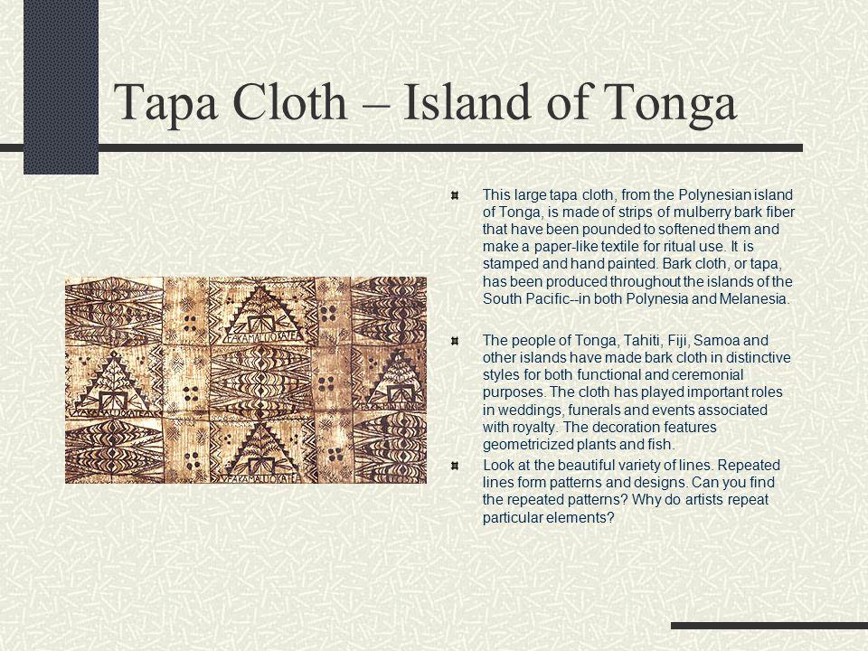 Tapa Cloth – Island of Tonga