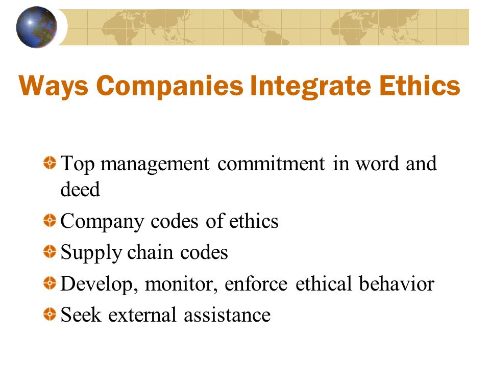 Ways Companies Integrate Ethics