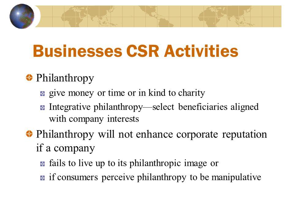 Businesses CSR Activities