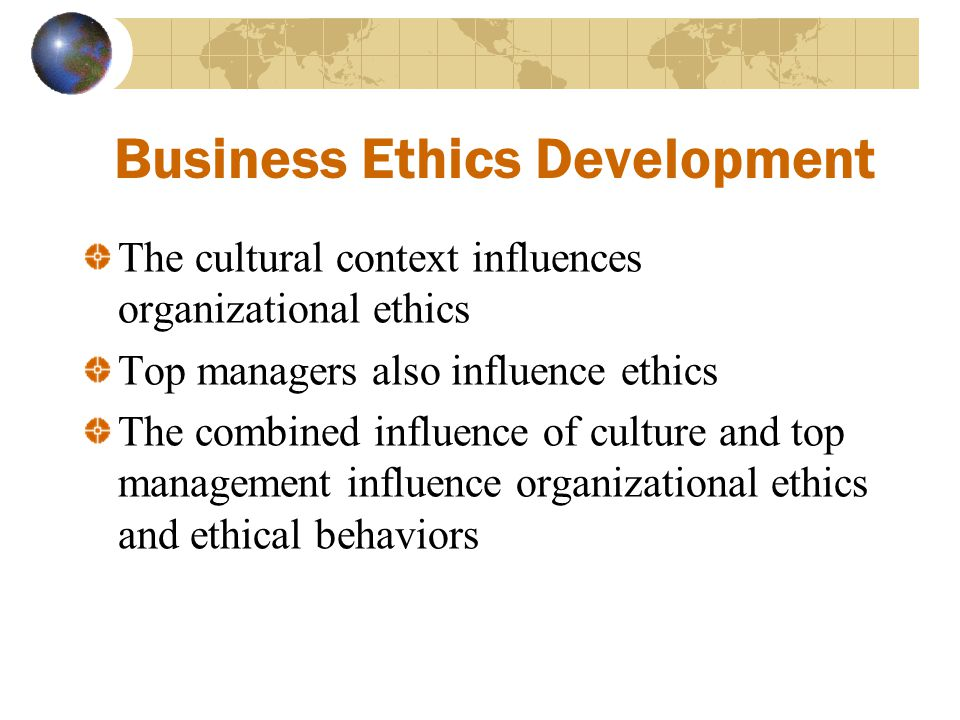 Business Ethics Development