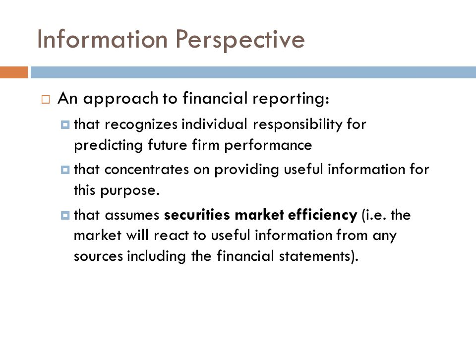 Information Perspective