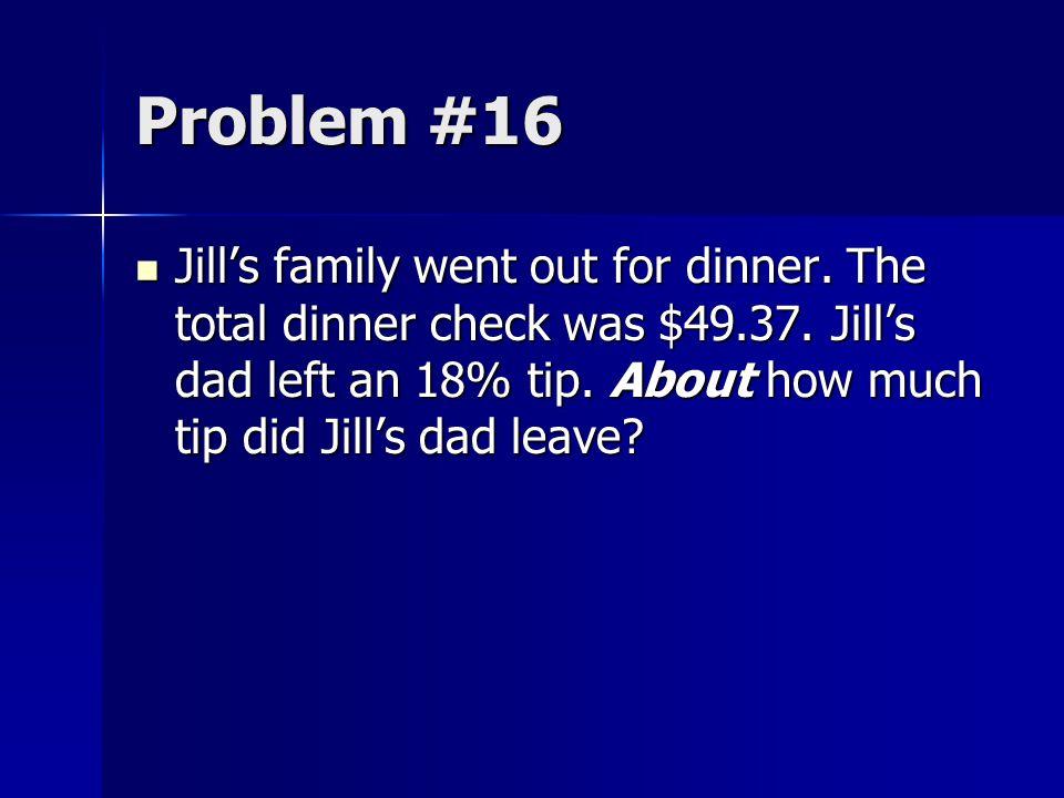 Problem #16