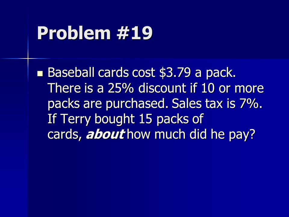 Problem #19