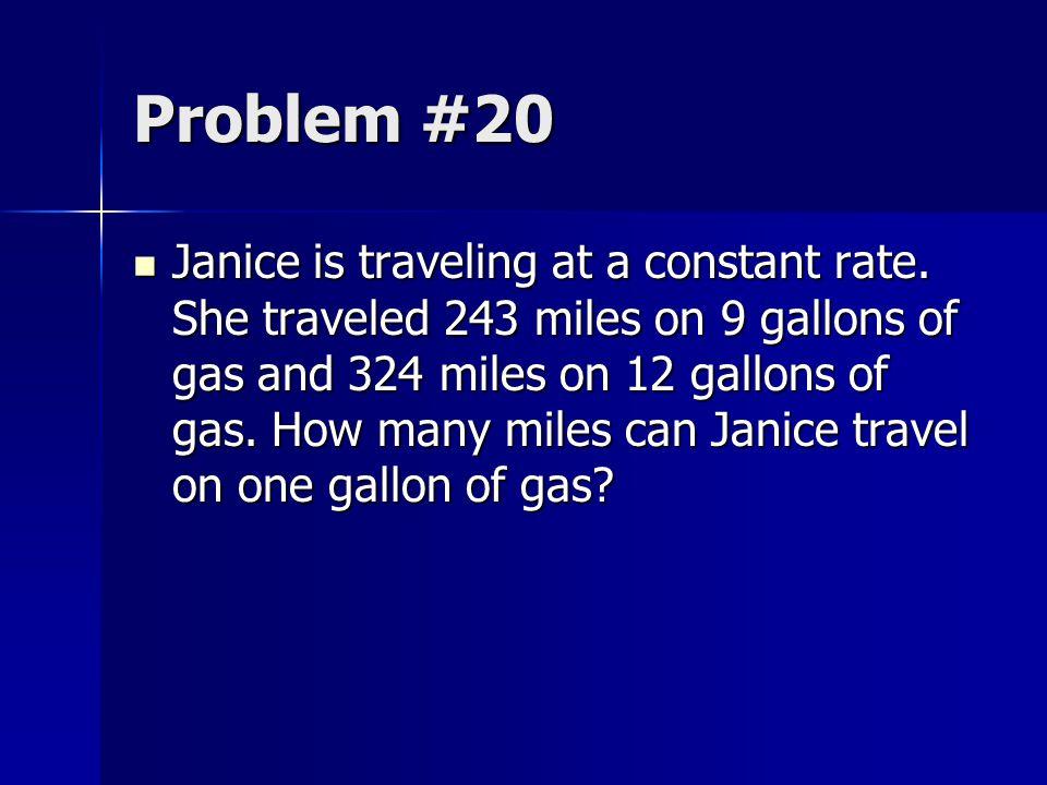 Problem #20