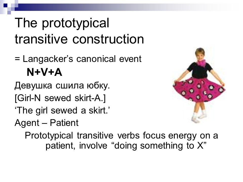 The prototypical transitive construction