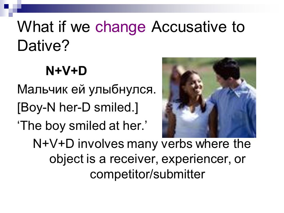 What if we change Accusative to Dative