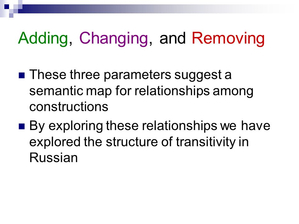 Adding, Changing, and Removing