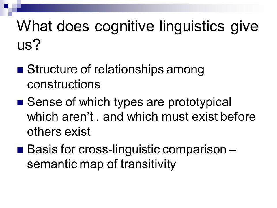 What does cognitive linguistics give us