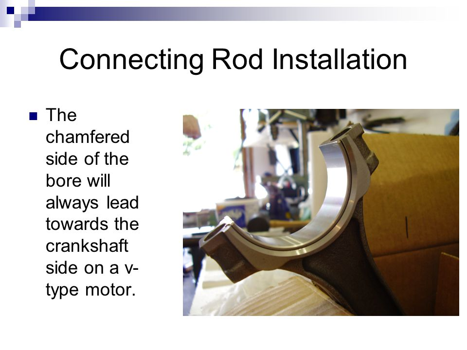 Connecting Rod Installation