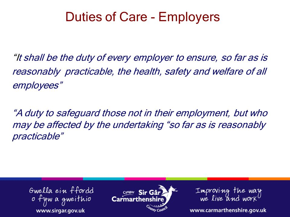 Duties of Care - Employers