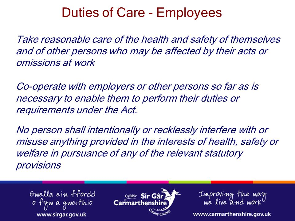 Duties of Care - Employees
