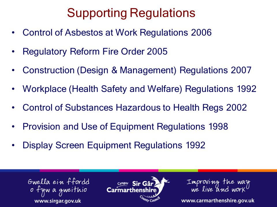 Supporting Regulations