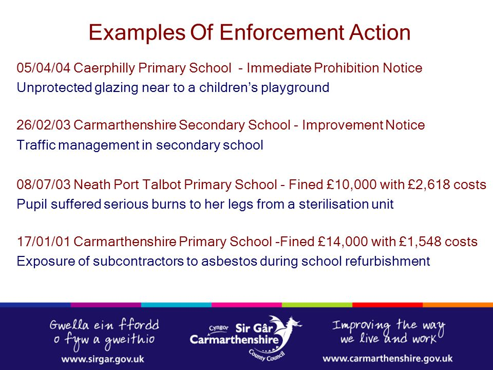 Examples Of Enforcement Action