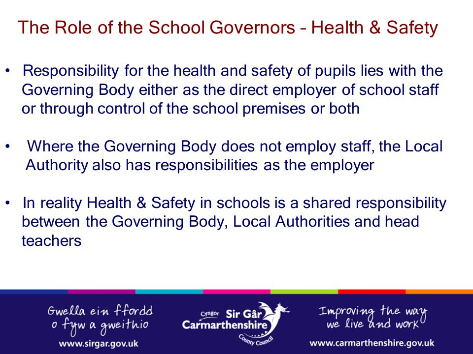 The Role of the School Governors – Health & Safety