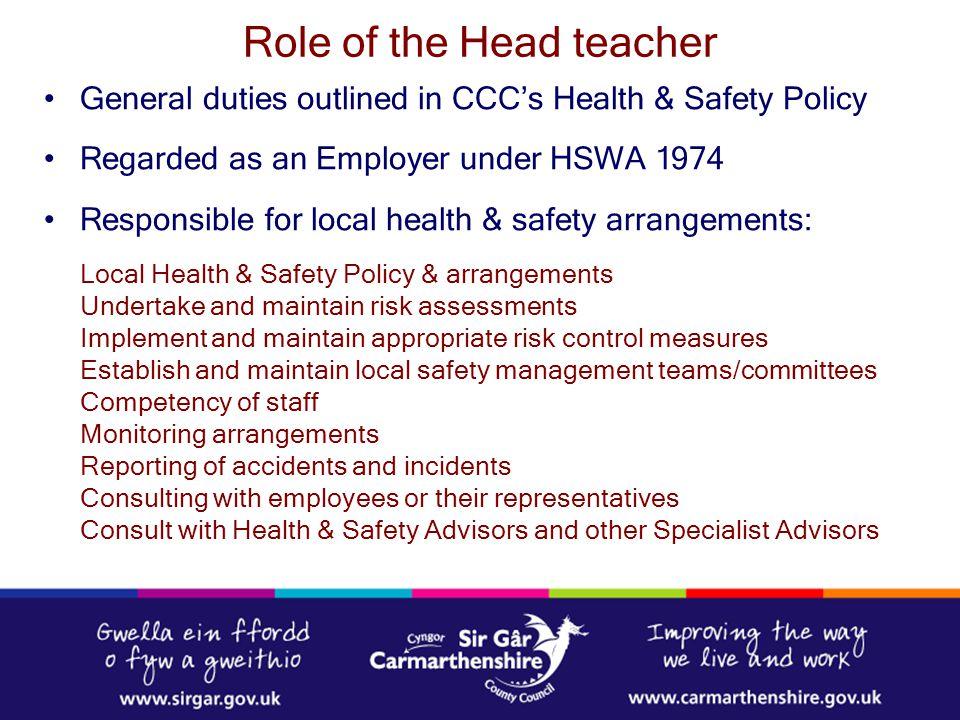 Role of the Head teacher