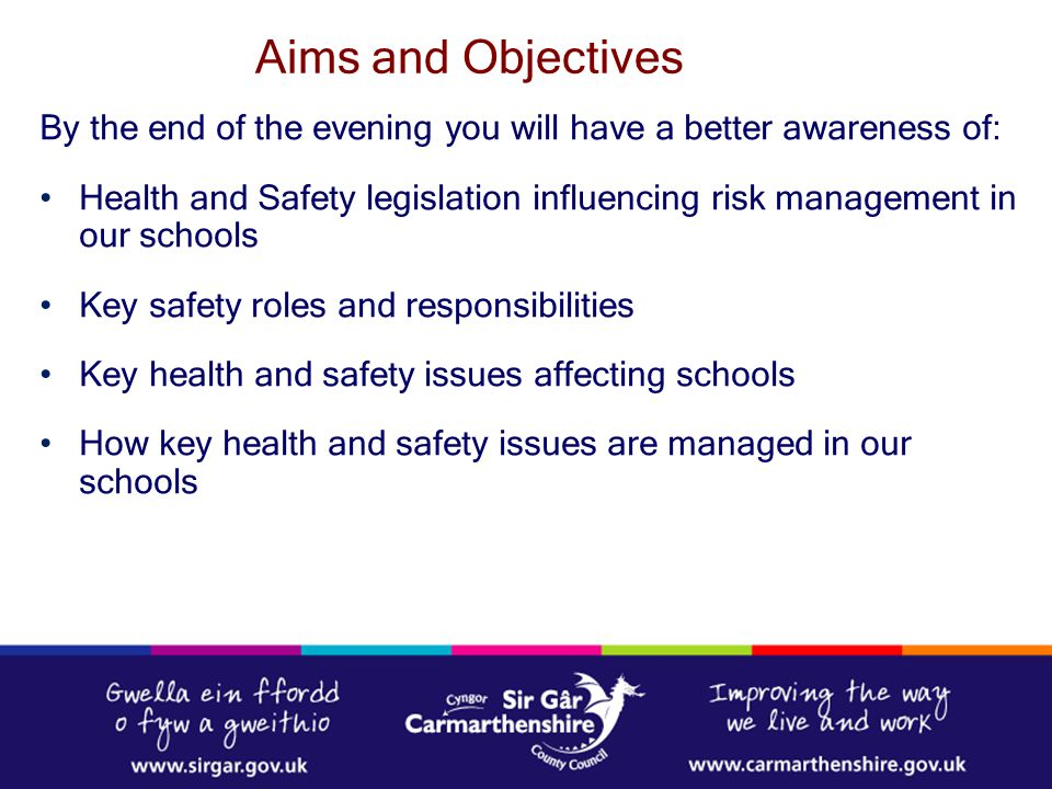 Aims and Objectives By the end of the evening you will have a better awareness of: