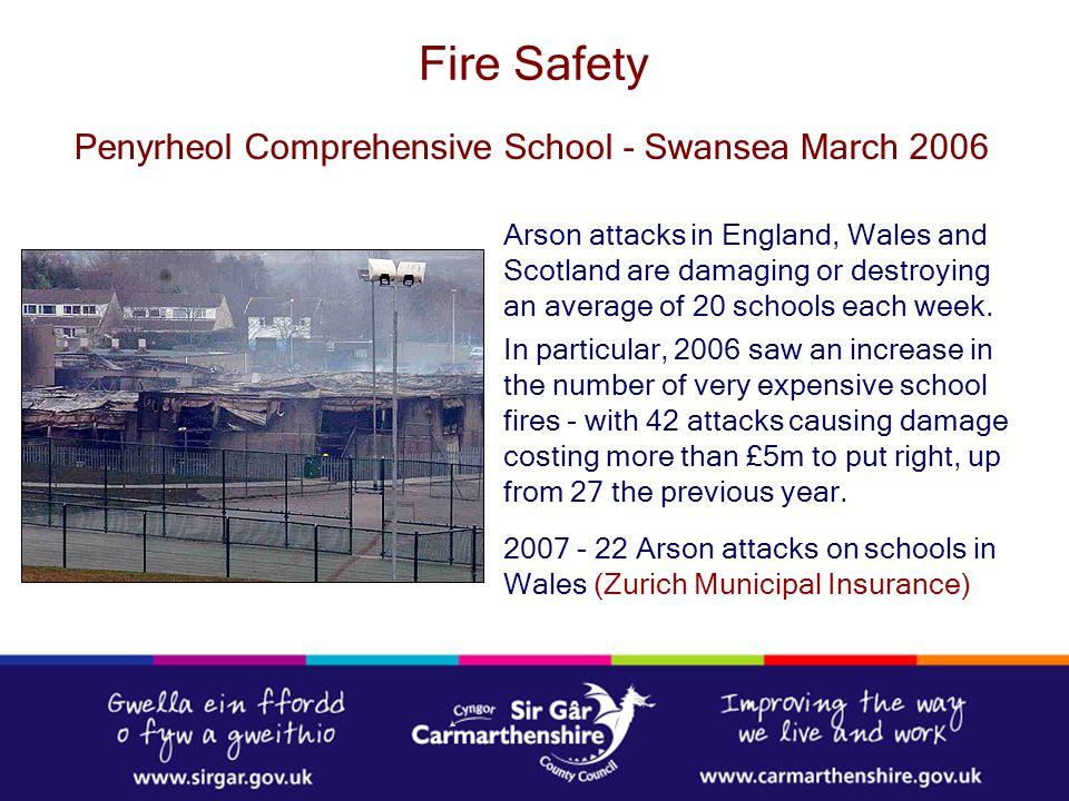 Fire Safety Penyrheol Comprehensive School - Swansea March 2006