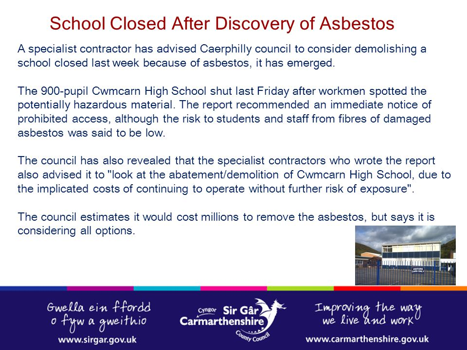 School Closed After Discovery of Asbestos