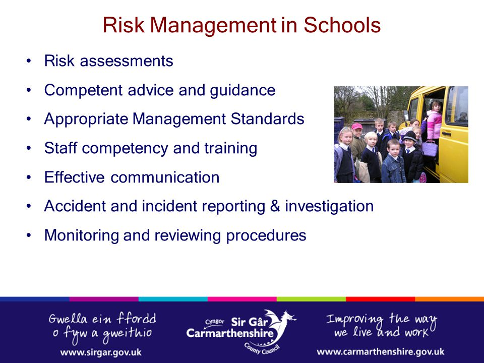 Risk Management in Schools