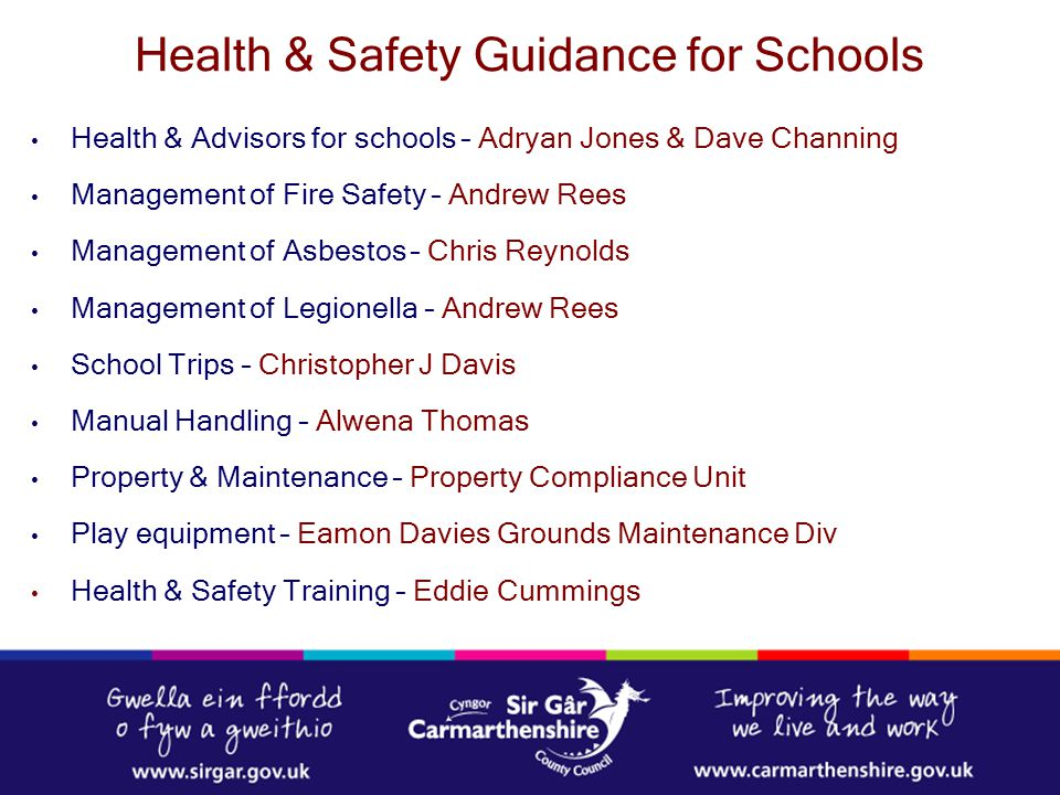 Health & Safety Guidance for Schools