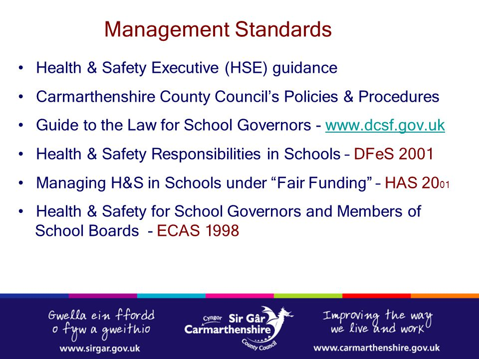 Management Standards Health & Safety Executive (HSE) guidance