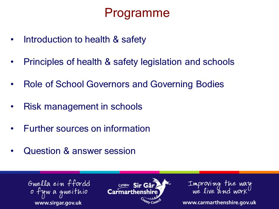 Programme Introduction to health & safety