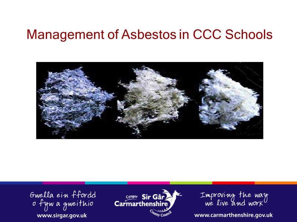 Management of Asbestos in CCC Schools