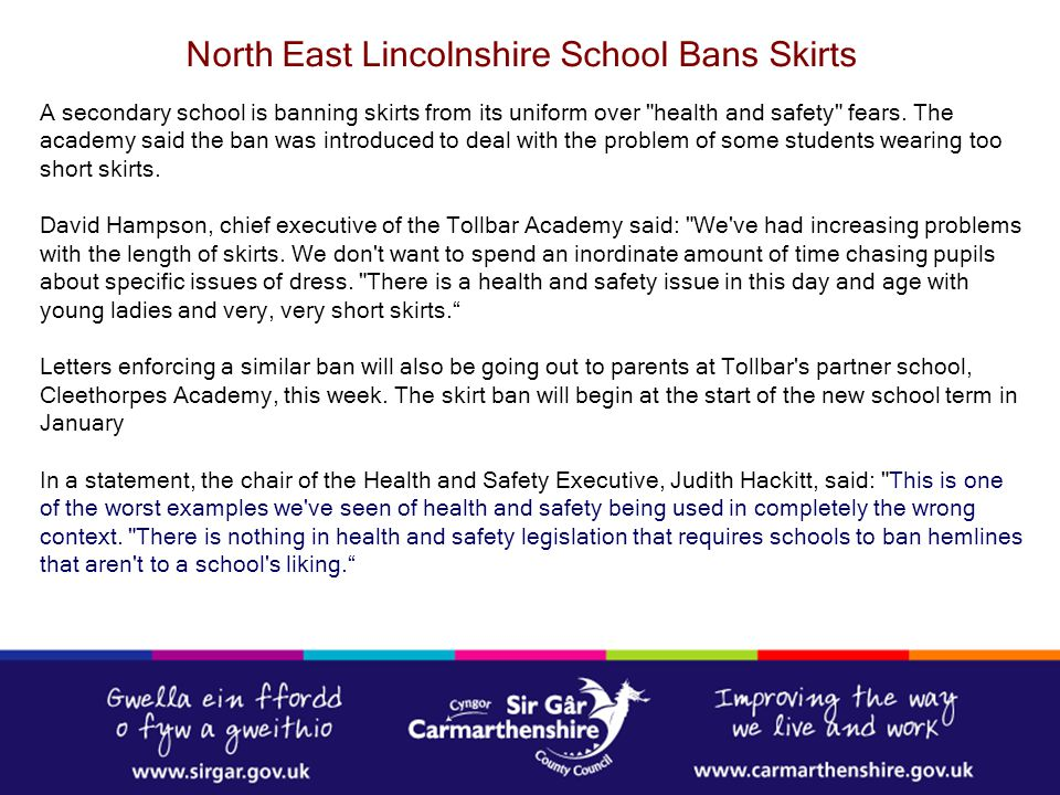 North East Lincolnshire School Bans Skirts