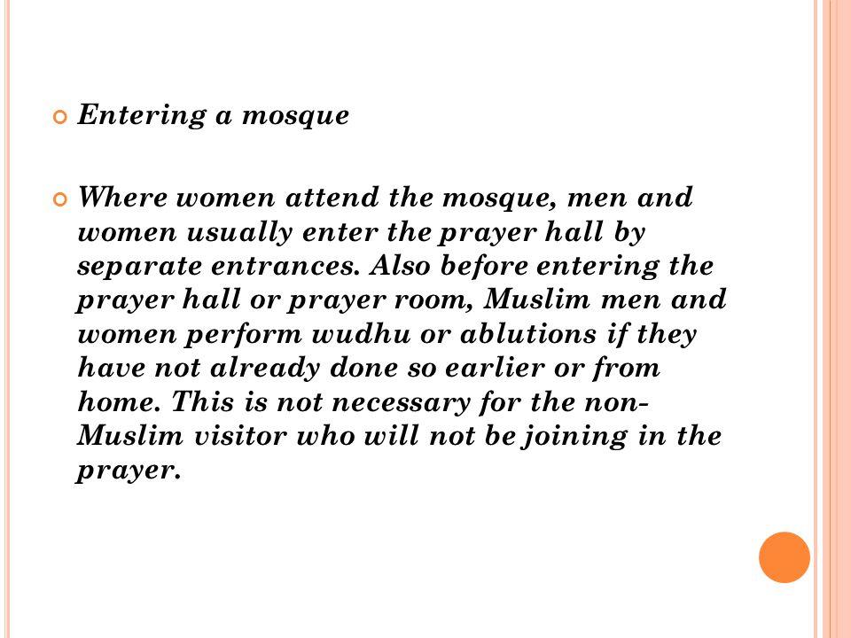 Entering a mosque