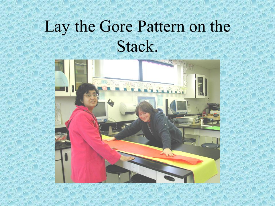 Lay the Gore Pattern on the Stack.