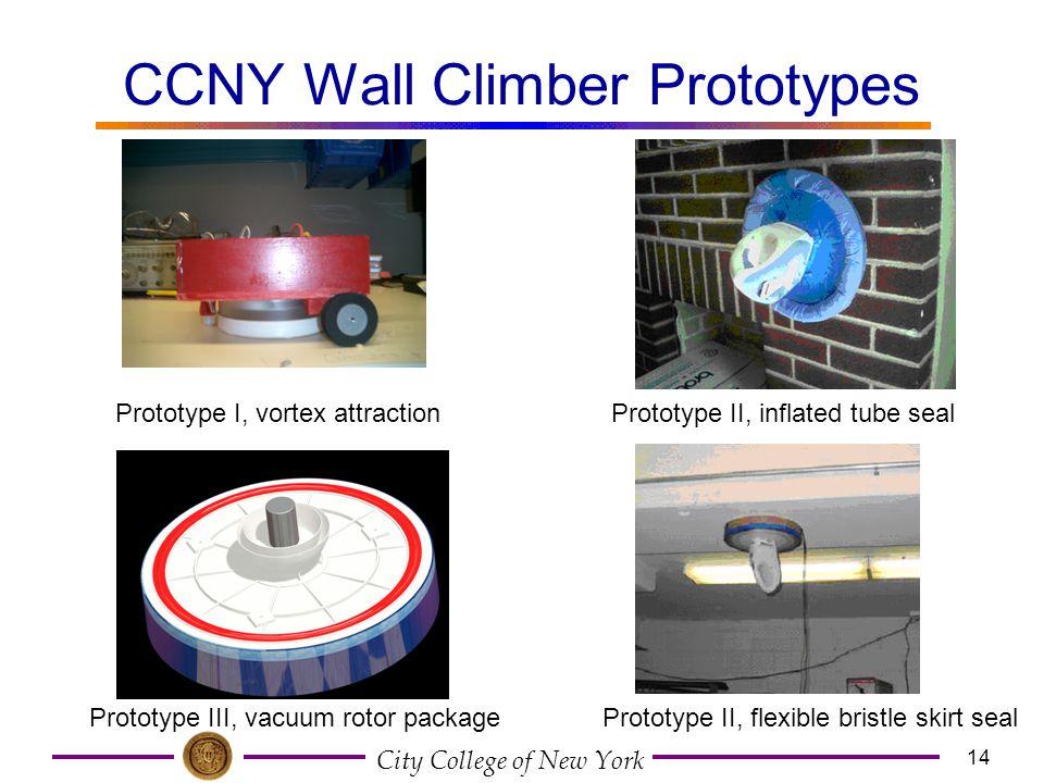CCNY Wall Climber Prototypes