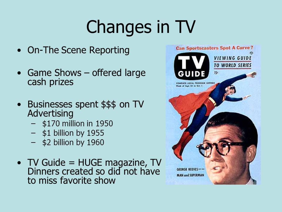 Changes in TV On-The Scene Reporting