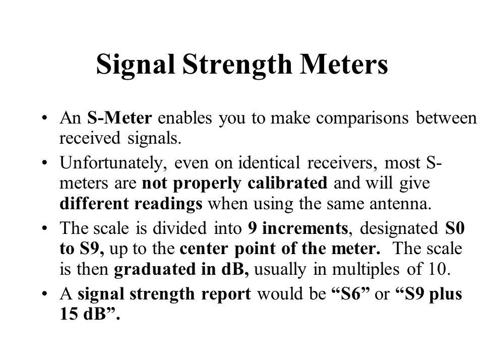 Signal Strength Meters
