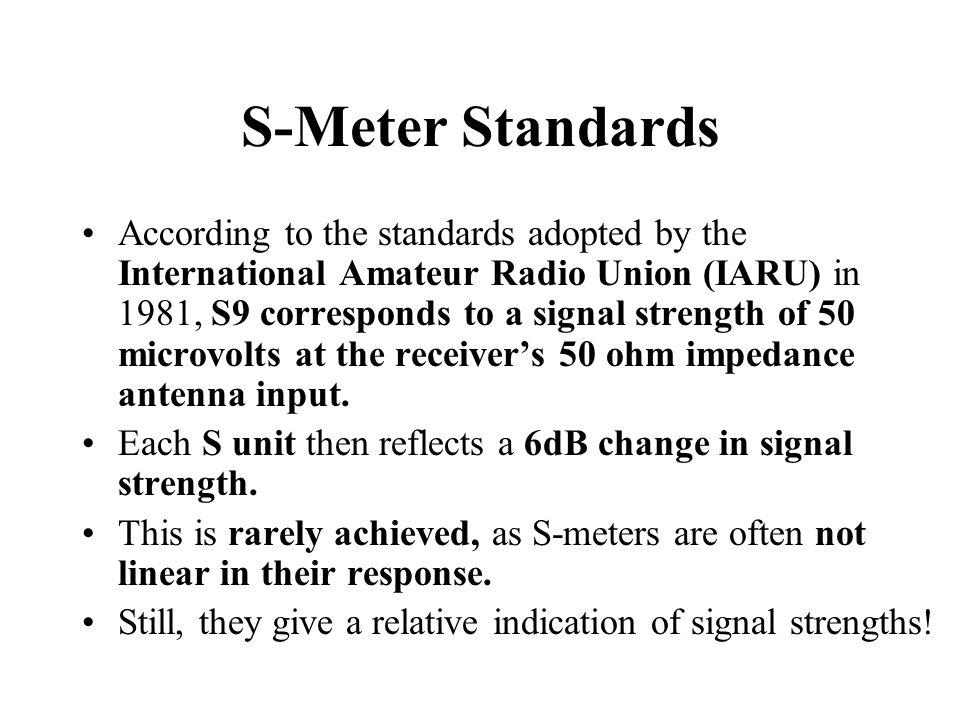 S-Meter Standards