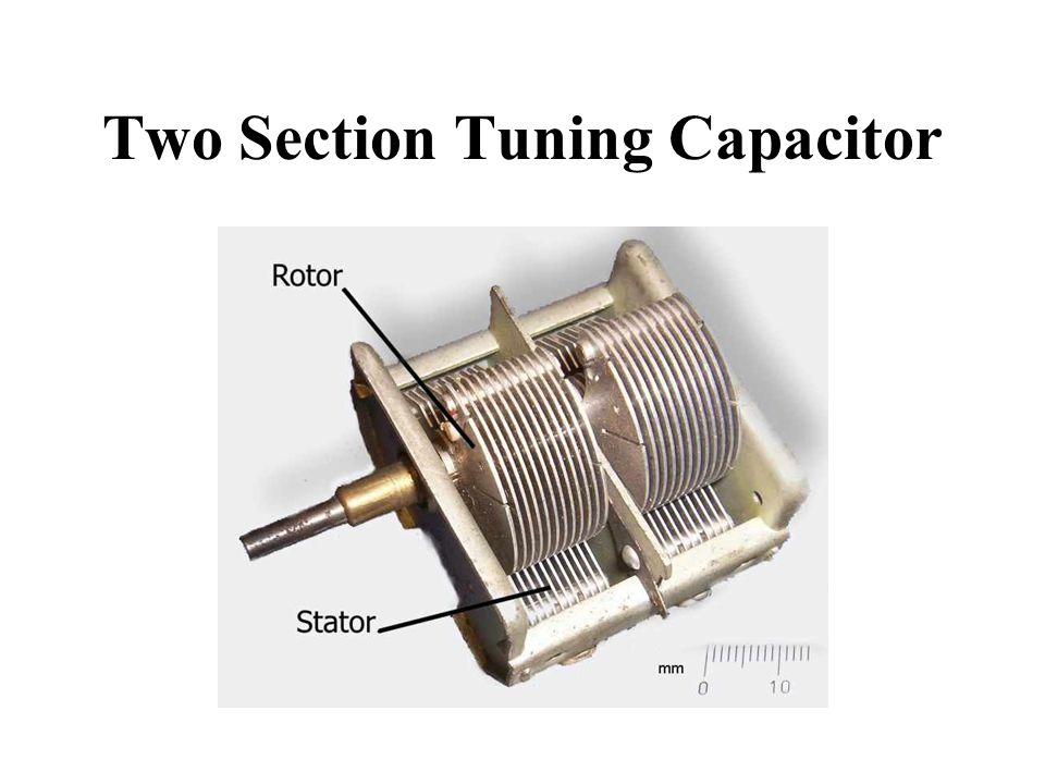 Two Section Tuning Capacitor