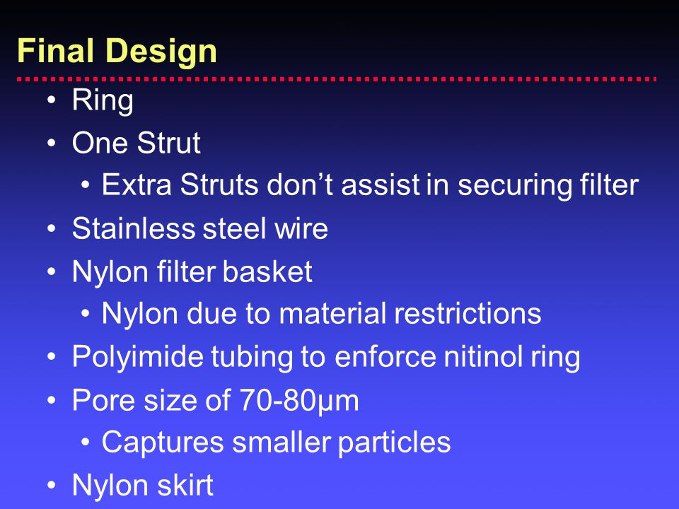 Final Design Ring One Strut