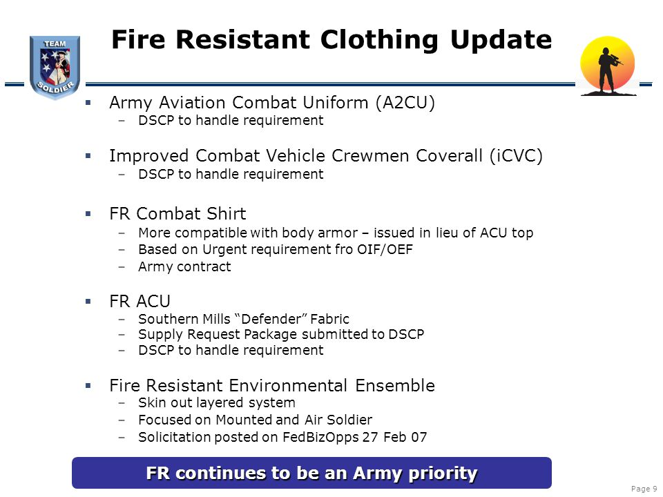 Fire Resistant Clothing Update