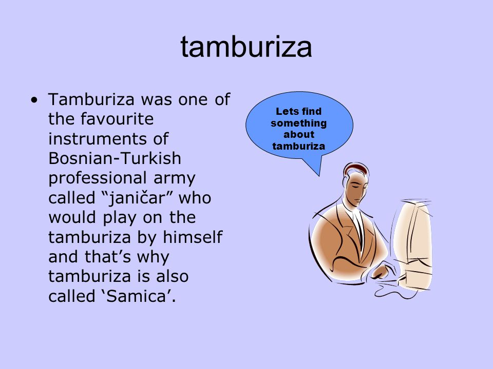 Lets find something about tamburiza