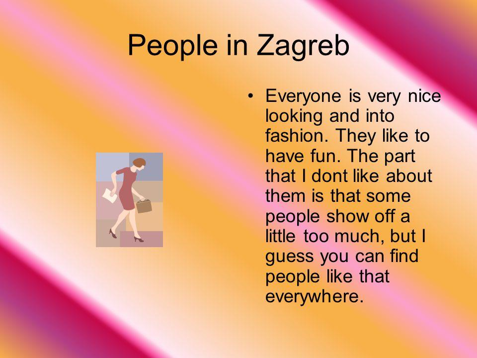 People in Zagreb