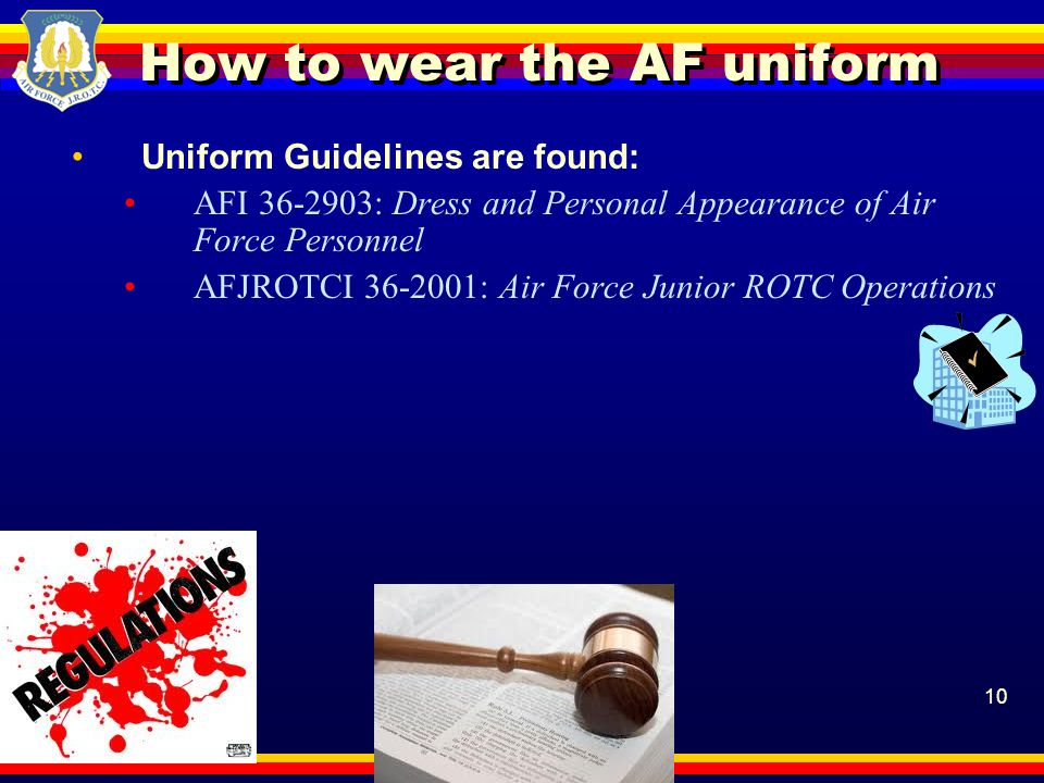 How to wear the AF uniform