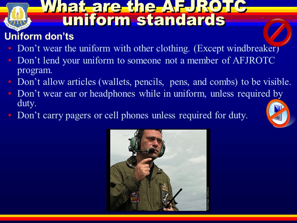 What are the AFJROTC uniform standards