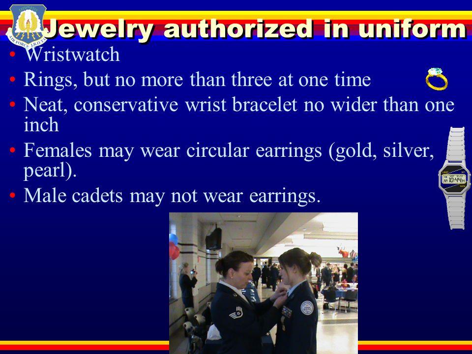Jewelry authorized in uniform